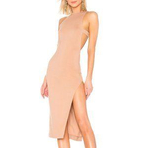 NBD Late Night Midi Dress in Nude